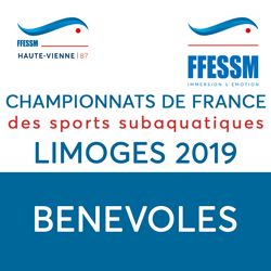 Inscription Bénévoles Championnats de France à Limoges 10 au 12 Mai 2019