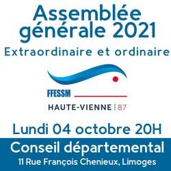 Assemblée générale 2021 - FFESSM CODEP 87