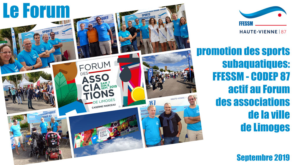 Forum des associations ville de Limoges FFESSM CODEP 87